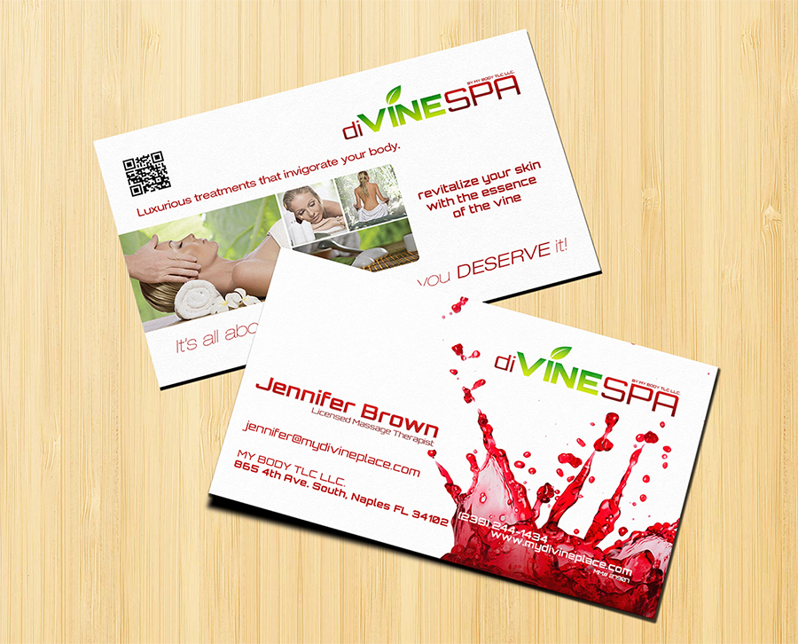 diVINE SPA Business Card