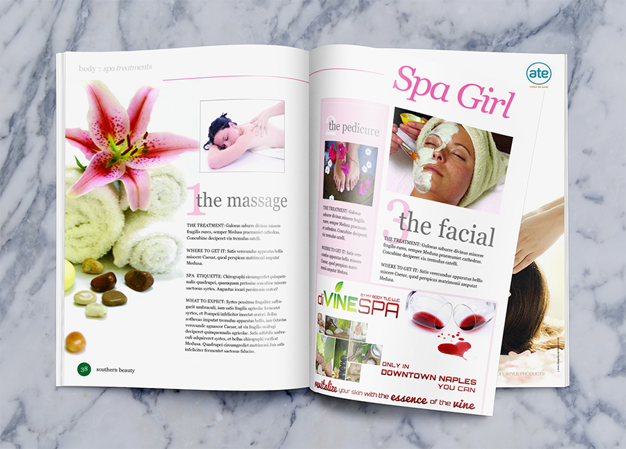 diVINE SPA Magazine Ad