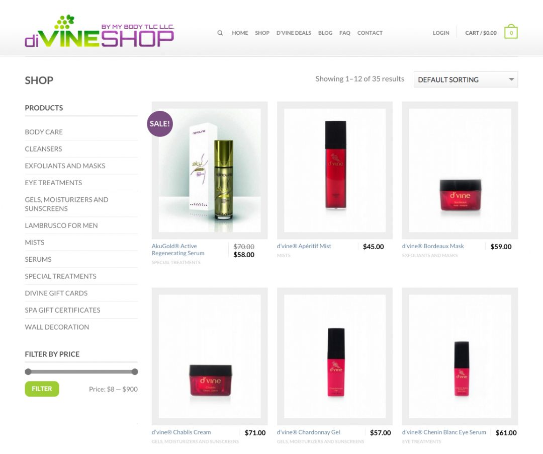diVINESHOP Website Design