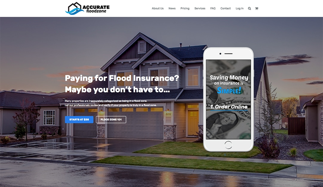 Accurate Floodzone Web Design